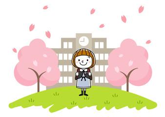 入学式イメージ:女の子