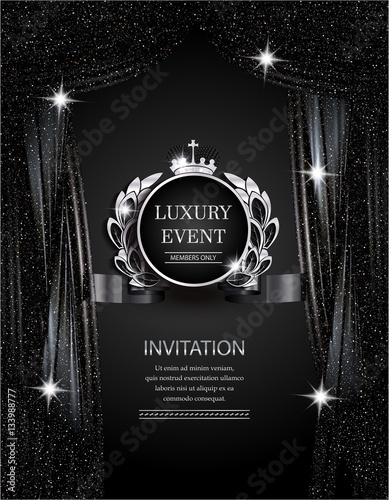 Quot Luxury Event Elegant Silver And Black Background With
