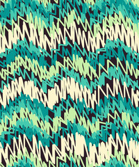seamless pattern with hand drawn lines in zigzag shape