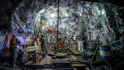 Gold mining underground