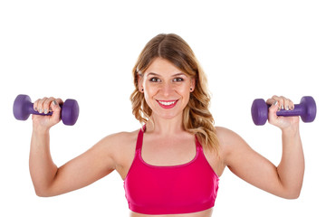 Healthy woman at the gym