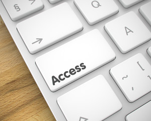 Access - Inscription on White Keyboard Keypad. 3D.
