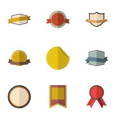 Sticker icons set, flat style