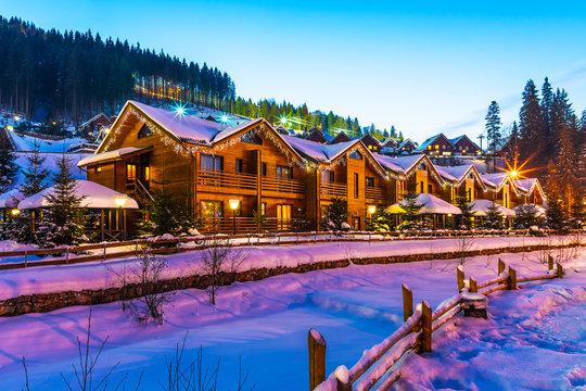 Winter ski resort Bukovel, Ukraine