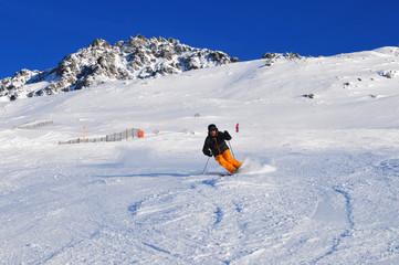 Wintersport Schweizer Alpen: Rothorn Piste in der Lenzerheide