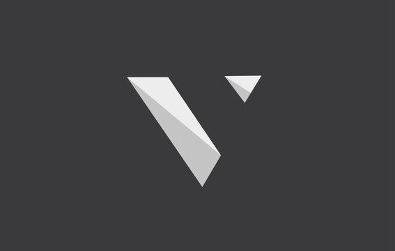 Alphabet letter V logo icon design
