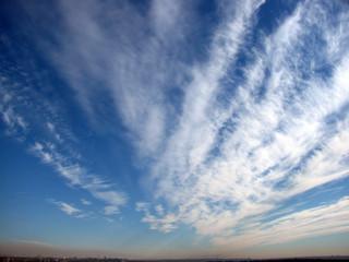 Fan-shaped clouds