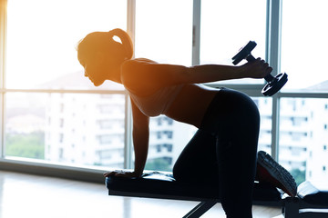 woman Are exercising with fitness