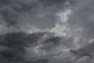 Overcast sky of rain clouds forming in the sky in concept of cli