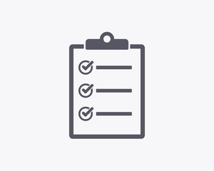 Checklist Icon - Vector illustration. Minimal thin line design.