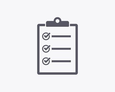 Checklist Icon - Vector illustration. Minimal thin line design.
