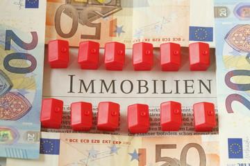 Euroscheine , Rote Spielzeughäuschen