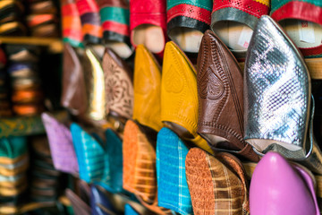 various moroccan leather shoes