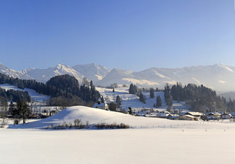 Berghofen - Allgäu - Winter - Kapelle - Berge