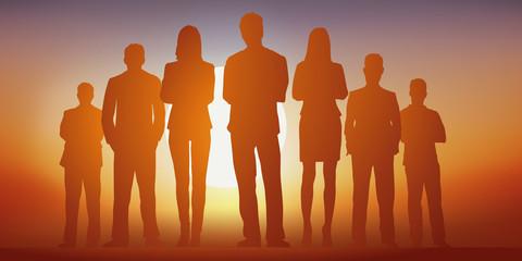 équipe - entreprise - leadership - groupe - challenge