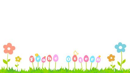 Blumenwiese Ostereier