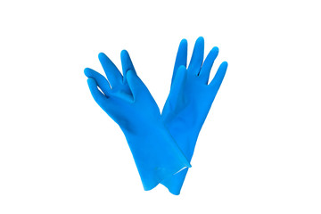 gloves rubber color cleaning background isolated objects orangs