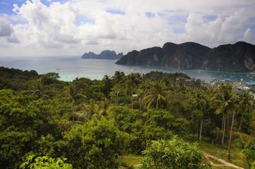 beautiful landscape view of Koh Phi Phi island in Thailand Krabi