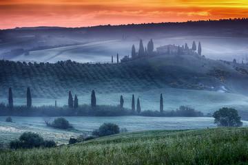 Tuscany ranch with vineyard