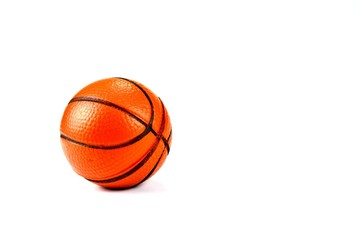 Basketball Brown On a white background