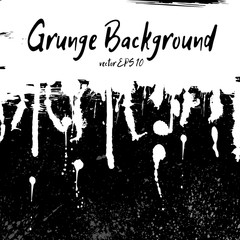 Grunge background with white hand drawn  spots and splash for de