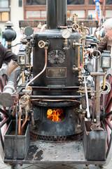 Historische Dampfspritze