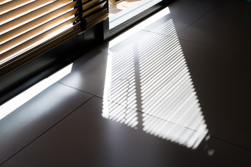 shadow sunlight the door of office