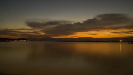 Seascape horizontal sunset
