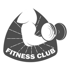 Fitness club logo design template