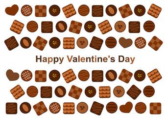 バレンタインデー チョコレート イラスト カード