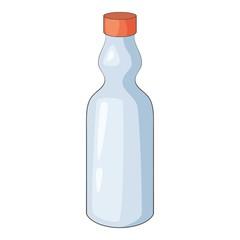 Plastic bottle icon, cartoon style