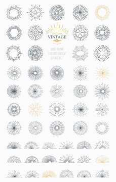 Vector abstract illustration sunburst. Elements for icons and logos. Templates elements for your design project. Light ray.