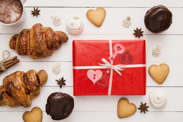 Gift box for the Birthday or St. Valentine's Day, bakery