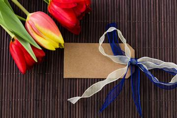 Muttertag Valentinstag Blumengruß mit Tafel