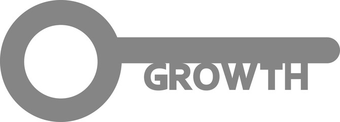 Key with growth