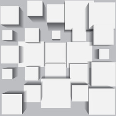 Abstract background with white square