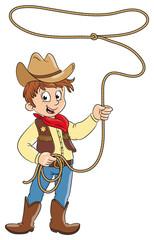 Vektor Illustration eines kleinen Cowboys