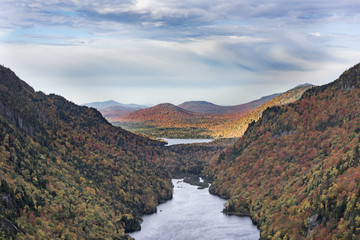 Lower Ausable Lake in the Adirondack Mountains in Autumn