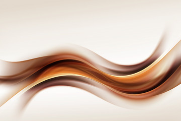 Obraz Gold Brown Waves Blurred Abstract Background - fototapety do salonu