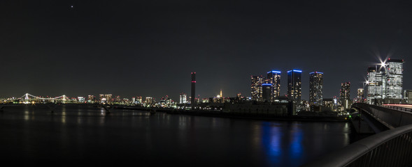 東京風景(晴海大橋から港区方面)