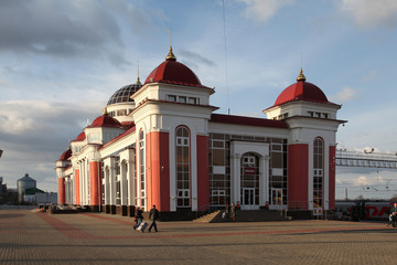 Saransk. Mordovia republic. Railway station building