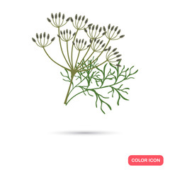 Dill color flat icon for web and mobile design