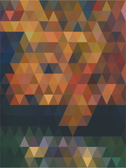 Vector photo of mix tone colour in repeated triangle shape abstract.