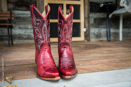 quotred cowgirl bootsquot stock photo and royaltyfree images on