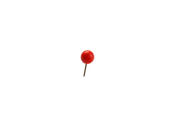 stationery small pin with a ball stuck in a white isolated background Wall mural