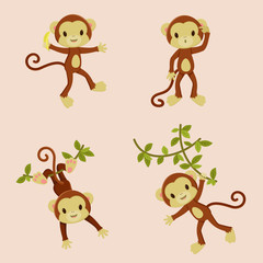 Monkeys icons
