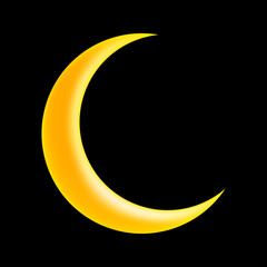 crescent moon vector symbol icon design.