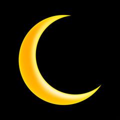 crescent moon vector symbol icon design.