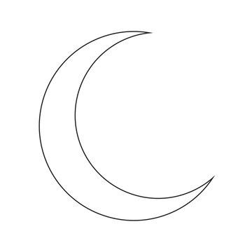 crescent moon silhouette vector symbol icon design.