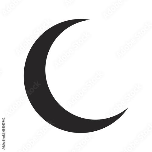 crescent moon silhouette vector symbol icon design stock image and rh fotolia com moon vector art free moon vector free